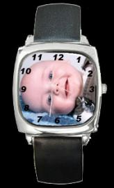 PERSONALISED PHOTO WATCH SQUARE