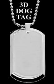 NEW PHOTO DOG TAG 3D PENDANT