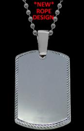 NEW PHOTO DOG TAG WITH ROPE DESIGN
