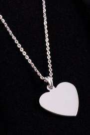 Sterling Silver .925 Heart Shaped Pendant