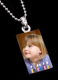 RECTANGLE SHAPED PHOTO COLOUR PENDANT