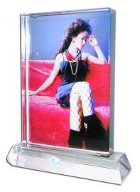 LARGE PORTRAIT BLOCK CRYSTAL WITH STAND