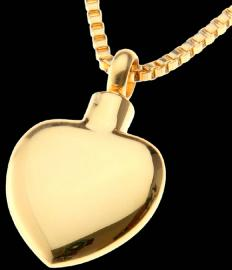 HEART SHAPED MEMORIAL ASH PENDANT