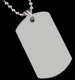 STAINLESS STEEL LARGE DOG TAG