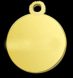 9CT SOLID GOLD ROUND PHOTO PENDANT