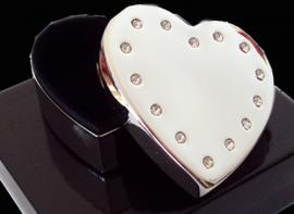 HEART SHAPED JEWELLERY BOX WITH GEMSTONES