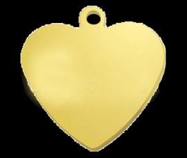 9 Carat Solid Gold Heart Shape Pendant