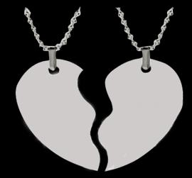 SPLIT HEART PHOTO PENDANT