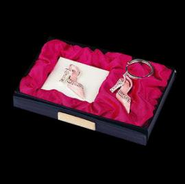 Pink Shoe Keyring and Mirror
