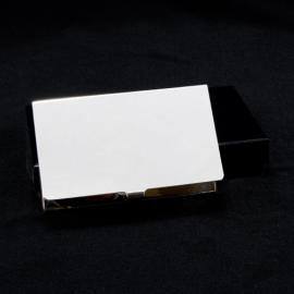 BUSINESS CARD HOLDER PLAIN SILVER PLATED