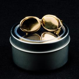 Oval Shaped Cufflinks Gold Plated