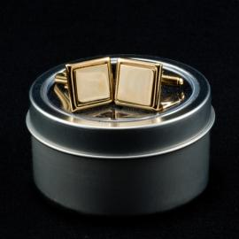 Square Shaped Cufflinks Gold Plated