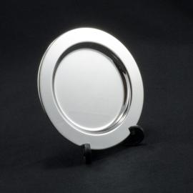 Round Silver Tray with Stand