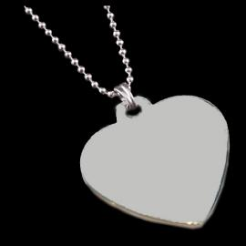 STAINLESS STEEL HEART SHAPED PENDANT