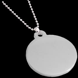 STAINLESS STEEL ROUND SHAPED PENDANT